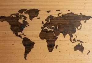 Wooden Worldmap